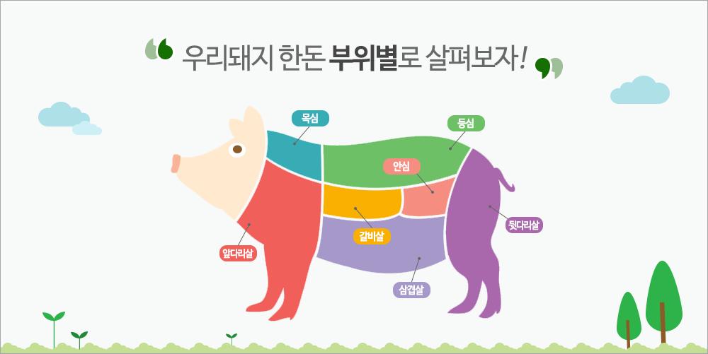 우리돼지 한돈 부위별로 살펴보자